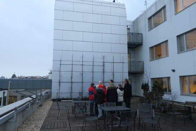 Natáčení na střeše ČRo